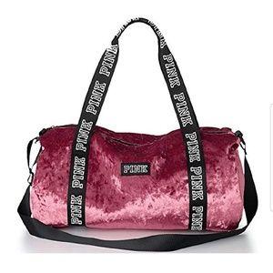 Velvet PINK duffel bag